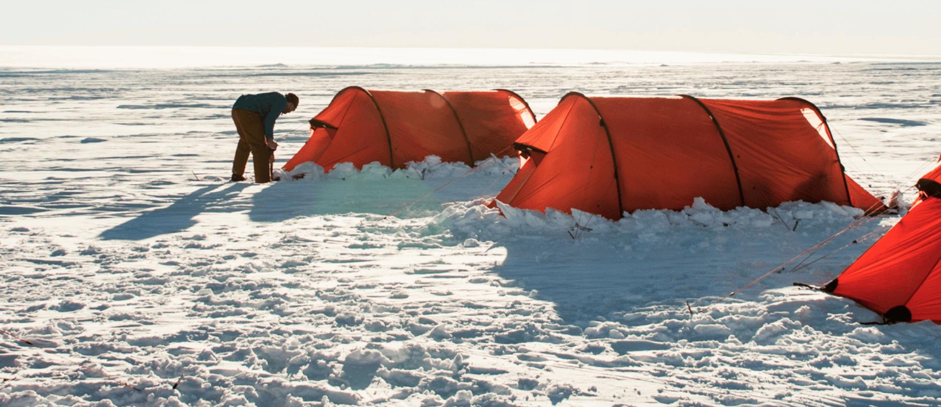 Antarctica Airbnb tents