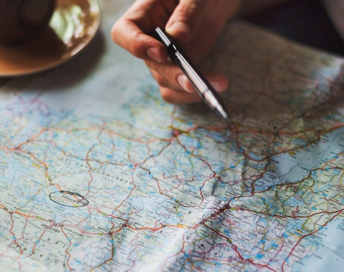 Kart for reise